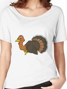 Thanksgiving Turkey with Orange Feathers Women's Relaxed Fit T-Shirt