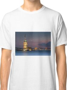 Maidens Tower under New Moon  Classic T-Shirt