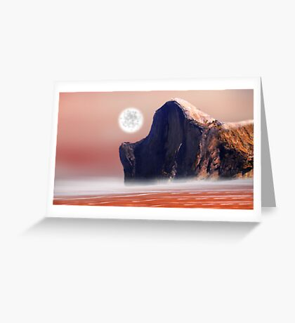Moon Over Red Sea Greeting Card