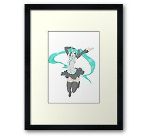 Hatsune Miku - Happy Jump Framed Print