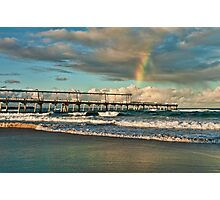 Rainbow over the Spit Jetty Photographic Print