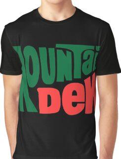 Mountain dew text logo Graphic T-Shirt