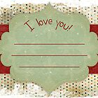 4x6 I love you card by NewLayer
