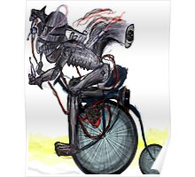Squirrel Man  Rides Unicycle Poster