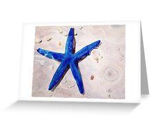 Blue Sea Star Greeting Card