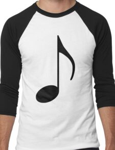 Music Note Men's Baseball ¾ T-Shirt