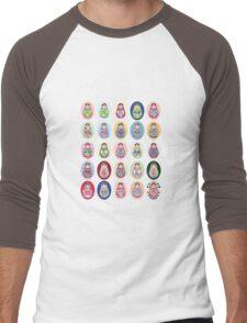 cute doll matryoshka Men's Baseball ¾ T-Shirt