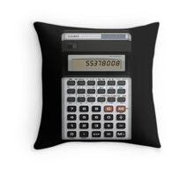 Awesome Fake CASIO Vintage calculator Throw Pillow