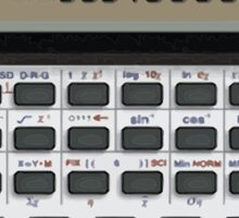Awesome Fake CASIO Vintage calculator Sticker