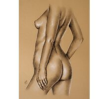 Charcoal nude female #9 Photographic Print