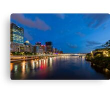 Lights on the River Canvas Print