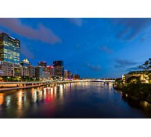 Lights on the River Photographic Print