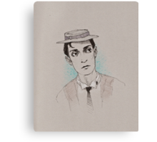 Buster Keaton (with a bit o' color) Canvas Print