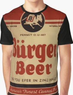 BEER - Vintage Burguer can. Graphic T-Shirt