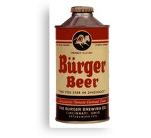 BEER - Vintage Burguer can. Canvas Print