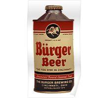 BEER - Vintage Burguer can. Poster