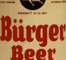 BEER - Vintage Burguer can. Sticker