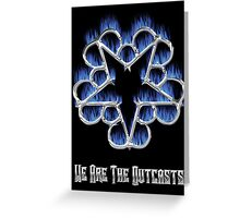 Fiery Chrome Black Veil Brides Star - We Are The Outcasts Greeting Card