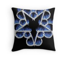 Fiery Chrome Black Veil Brides Star - We Are The Outcasts Throw Pillow