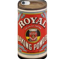 Royal baking powder iPhone Case/Skin
