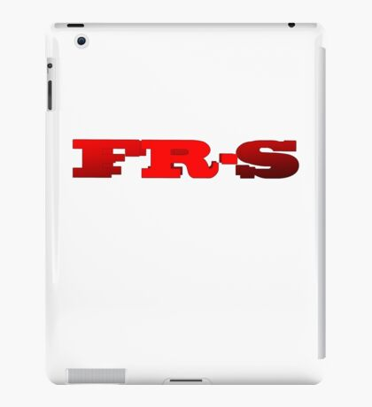 FR-S Double Fonts Red iPad Case/Skin