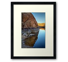 Half and Half Framed Print