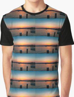 Sunset over Lake Garda Graphic T-Shirt