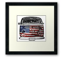 USA VW van Framed Print