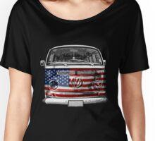 USA VW van Women's Relaxed Fit T-Shirt