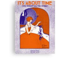 IT'S ABOUT TIME (vintage illustration) Canvas Print