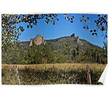 Nimbin Rocks, tree framed Poster