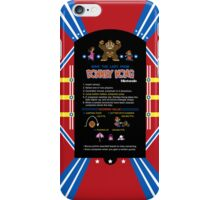 Donkey Kong Cocktail Instruction Card iPhone Case/Skin