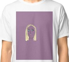 Purple Girl with Yellow Hair Classic T-Shirt