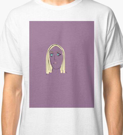 Purple Girl with Yellow Hair Classic T-Shirt