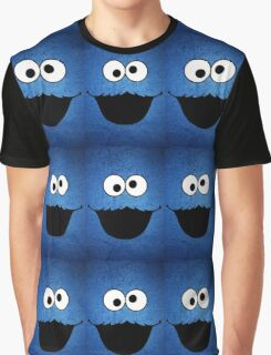 FUNNY COOKIE MONSTER Graphic T-Shirt