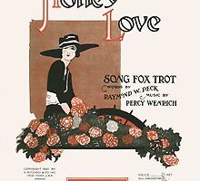 HONEY LOVE (vintage illustartion) by ART INSPIRED BY MUSIC