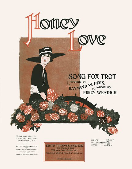 HONEY LOVE (vintage illustartion) by ART INSPIRED BY MUSIC