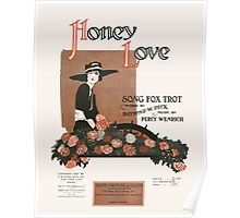 HONEY LOVE (vintage illustartion) Poster