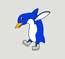 Christmas Blue Penguin with Silver Ice Skates T-Shirt