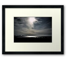 Beach walkers...... Framed Print