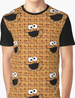 COOKIE MONSTER.REAL COOKIE BACKGROUND Graphic T-Shirt