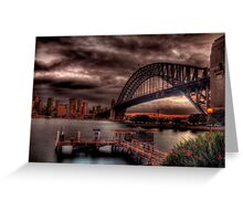 Sunset Sydney Harbour Bridge- VIVID Festival  Greeting Card