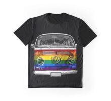 VW van Rainbow Graphic T-Shirt