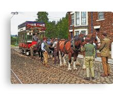 Horse drawn tram Canvas Print