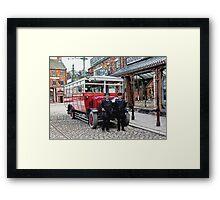 On the buses Framed Print