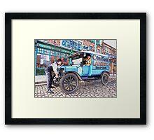 Vintage van Framed Print