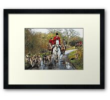 Horse and hounds Framed Print