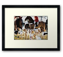 Horse and hounds 3 Framed Print