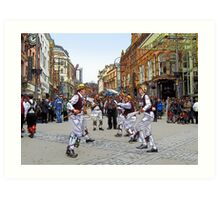 Morris dancers Art Print