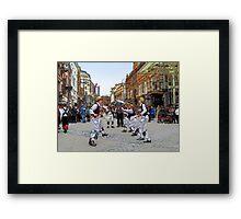 Morris dancers Framed Print